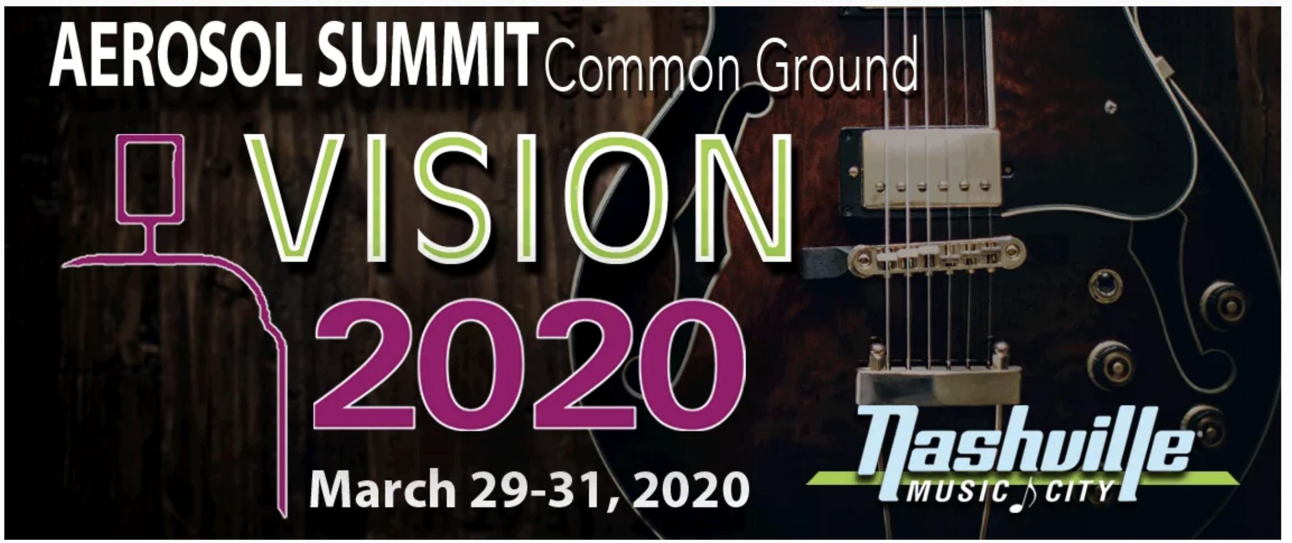Aerosol Summit 2020 - Common Ground: The Future is Now